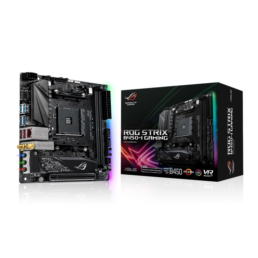 ASUS 90MB0Z50-M0EAY0 ROG STRIX B450-I GAMING SOCKET AM4 AMD B450 MINI ITX
