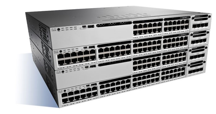 CISCO WS-C3850-24XS-S CATALYST NETWORK SWITCH MANAGED BLACK, GREY