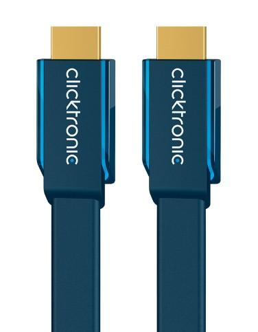 CLICKTRONIC 70312 1M HIGH SPEED HDMI CABLE TYPE A (STANDARD) BLUE