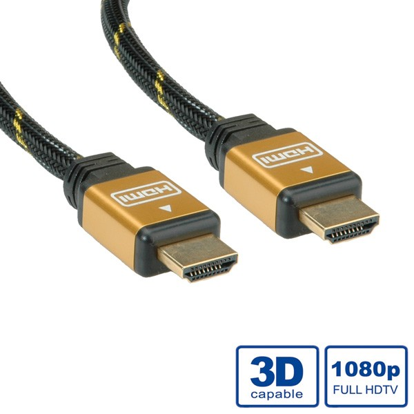 ROLINE 11.04.5504 GOLD HDMI HIGH SPEED CABLE + ETHERNET, M/M 7.5 M
